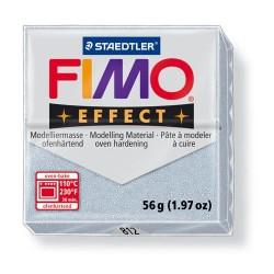 Kreatív kiégethető gyurma Fimo Effect 56g glitteres ezüst