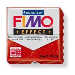 Kreatív kiégethető gyurma Fimo Effect 56g glitteres piros