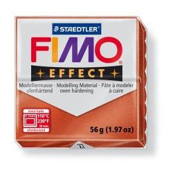 Kreatív kiégethető gyurma Fimo Effect 56g metálréz