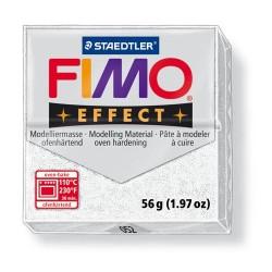 Kreatív kiégethető gyurma Fimo Effect 56g glitteres fehér