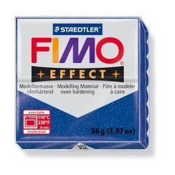 Kreatív kiégethető gyurma Fimo Effect 56g glitteres kék