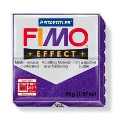 Kreatív kiégethető gyurma Fimo Effect 56g glitteres lila