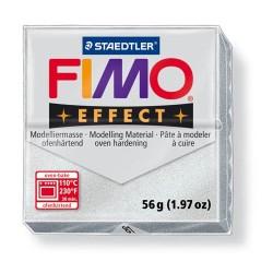 Kreatív kiégethető gyurma Fimo Effect 56g metálezüst