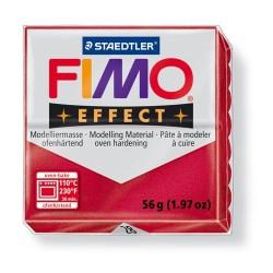 Kreatív kiégethető gyurma Fimo Effect 56g metál rubinvörös