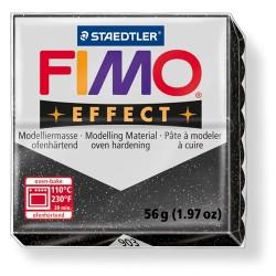 Kreatív kiégethető gyurma Fimo Effect 56g áttetsző/gyöngyház fekete csillagpor