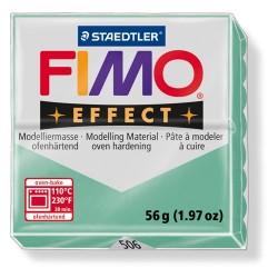 Kreatív kiégethető gyurma Fimo Effect 56g áttetsző/gyöngyház jadezöld