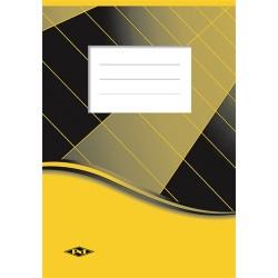 Spirálfüzet pd A/4-60 lapos franciakockás sárga/fekete