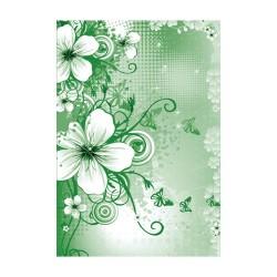 Spirálfüzet Pátria A/4-70 lapos sima zöld virág