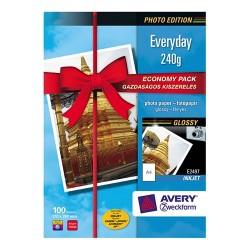 Fotópapír Avery Zweckform A/4 230g 100 lap/csomag tintasugaras magasfényű E2497