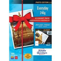 Fotópapír Avery Zweckform A/4 240g 10 lap/csomag tintasugaras magasfényű E2497-10