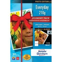 Fotópapír Avery Zweckform A/6 210g 100 lap/csomag tintasugaras fényes 2106