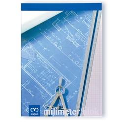 Milliméterpapír A/4 50 lapos tömb