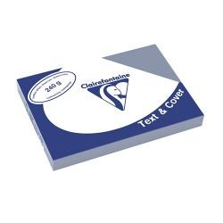 Karton bőrhatású Clairefontaine Text and Cover A/4 240g szürkéskék 100 ív/csomag