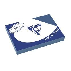 Karton bőrhatású Clairefontaine Text and Cover A/4 270g égkék 100 ív/csomag