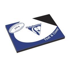 Karton bőrhatású Clairefontaine Text and Cover A/3 270g fekete 100 ív/csomag