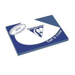 Karton bőrhatású Clairefontaine Text and Cover A/3 270g kék 100 ív/csomag
