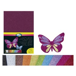 Kreatív kartonpapír Clairefontaine A/4 280g glitteres 10 ív/csomag