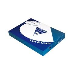 Karton textilhatású Clairefontaine Text and Cover A/4 270g égkék 100 ív/csomag