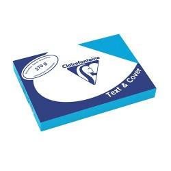 Karton textilhatású Clairefontaine Text and Cover A/4 270g világoskék 100 ív/csomag
