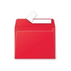 Boríték Clairefontaine Pollen 9x14 cm szilikonos intenzív piros