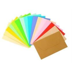Névjegyboríték 7.5x11.5 cm enyvezett színes