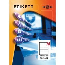 Etikett címke pd 105x42.4 mm szegély nélküli 100 ív 1400 db/doboz
