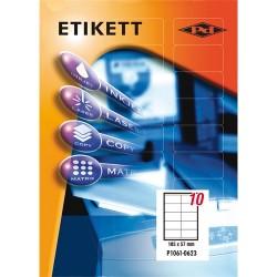 Etikett címke pd 105x57 mm szegéllyel 100 ív 1000 db/doboz
