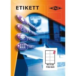Etikett címke pd 105x74 mm szegély nélküli 100 ív 800 db/doboz