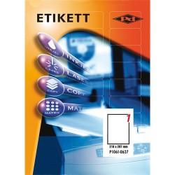 Etikett címke pd 210x297 mm szegély nélkül 100 ív 100 db/doboz