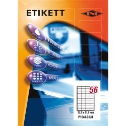 Etikett címke pd 52.5x21.17 mm szegély nélküli 100 ív 5600 db/doboz