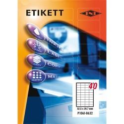 Etikett címke pd 52.5x29.7 mm szegély nélküli 100 ív 4000 db/doboz