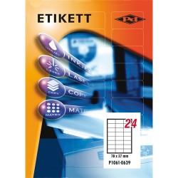 Etikett címke pd 70x37 mm szegély nélküli 100 ív 2400 db/doboz