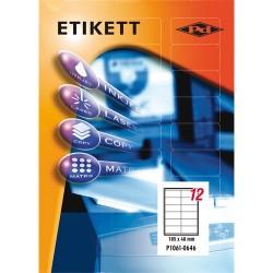 Etikett címke pd 105x48 mm szegéllyel 100 ív 1200 db/doboz