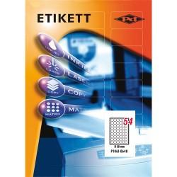 Etikett címke pd 30 mm kör 100 ív 5400 db/doboz