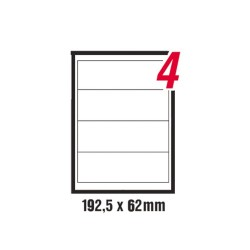 Etikett címke pd 192.5x62 mm szegéllyel 100 ív 400 db/doboz