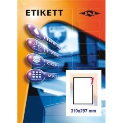 Etikett címke pd 210x297 mm szegély nélküli 10 ív 10 db/csomag