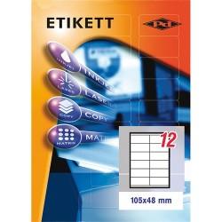 Etikett címke pd 105x48 mm szegéllyel 10 ív 120 db/csomag