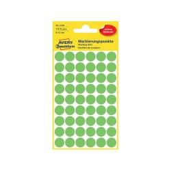 Etikett címke Avery Zweckform 18 mm kör címke zöld 48 ív 1056 db/csomag No.3376