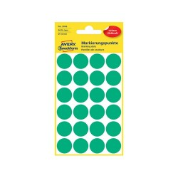 Etikett címke Avery Zweckform 18 mm kör címke zöld 4 ív 96 db/csomag No.3006