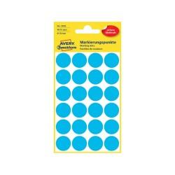 Etikett címke Avery Zweckform 18 mm kör címke kék 4 ív 96 db/csomag No.3005