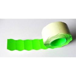 Árazószalag 25x16 mm neon zöld