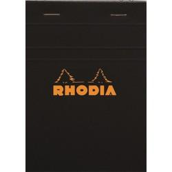 Jegyzettömb Clairefontaine Rhodia Black A/4 80 lapos kockás
