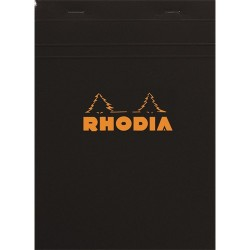 Jegyzettömb Clairefontaine Rhodia Black A/5 80 lapos kockás