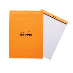Jegyzettömb Clairefontaine Rhodia Orange A/4 80 lapos kockás