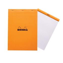 Jegyzettömb Clairefontaine Rhodia Orange A/4 80 lapos vonalas