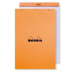 Jegyzettömb Clairefontaine Rhodia Orange A/4+ 80 lapos vonalas