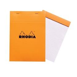 Jegyzettömb Clairefontaine Rhodia Orange A/5 80 lapos kockás