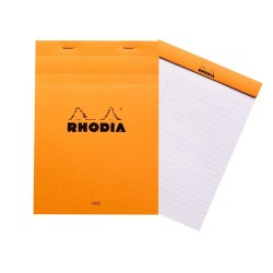 Jegyzettömb Clairefontaine Rhodia Orange A/5 80 lapos vonalas