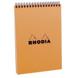 Jegyzettömb spirálos Clairefontaine Rhodia Orange A/5 80 lapos kockás