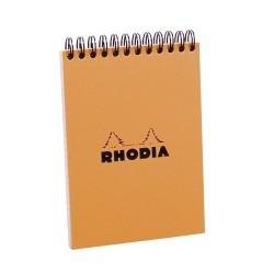 Jegyzettömb spirálos Clairefontaine Rhodia Orange A/5 80 lapos vonalas